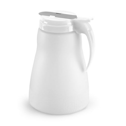 Vollrath 4864-05 64 oz Syrup Server - White Plastic Top, Poly