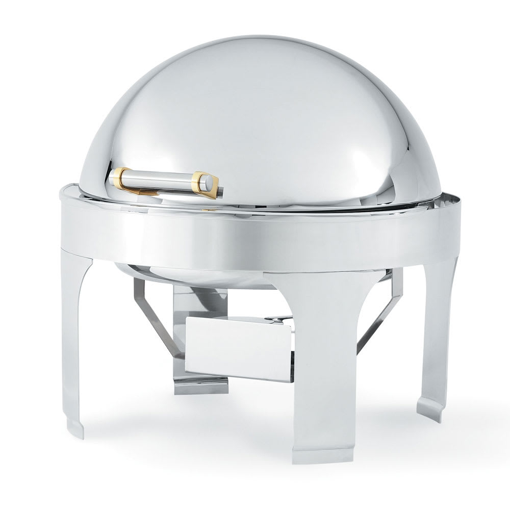Vollrath 48765 Round Chafer w/ Roll-Top Lid & Chafing Fuel Heat