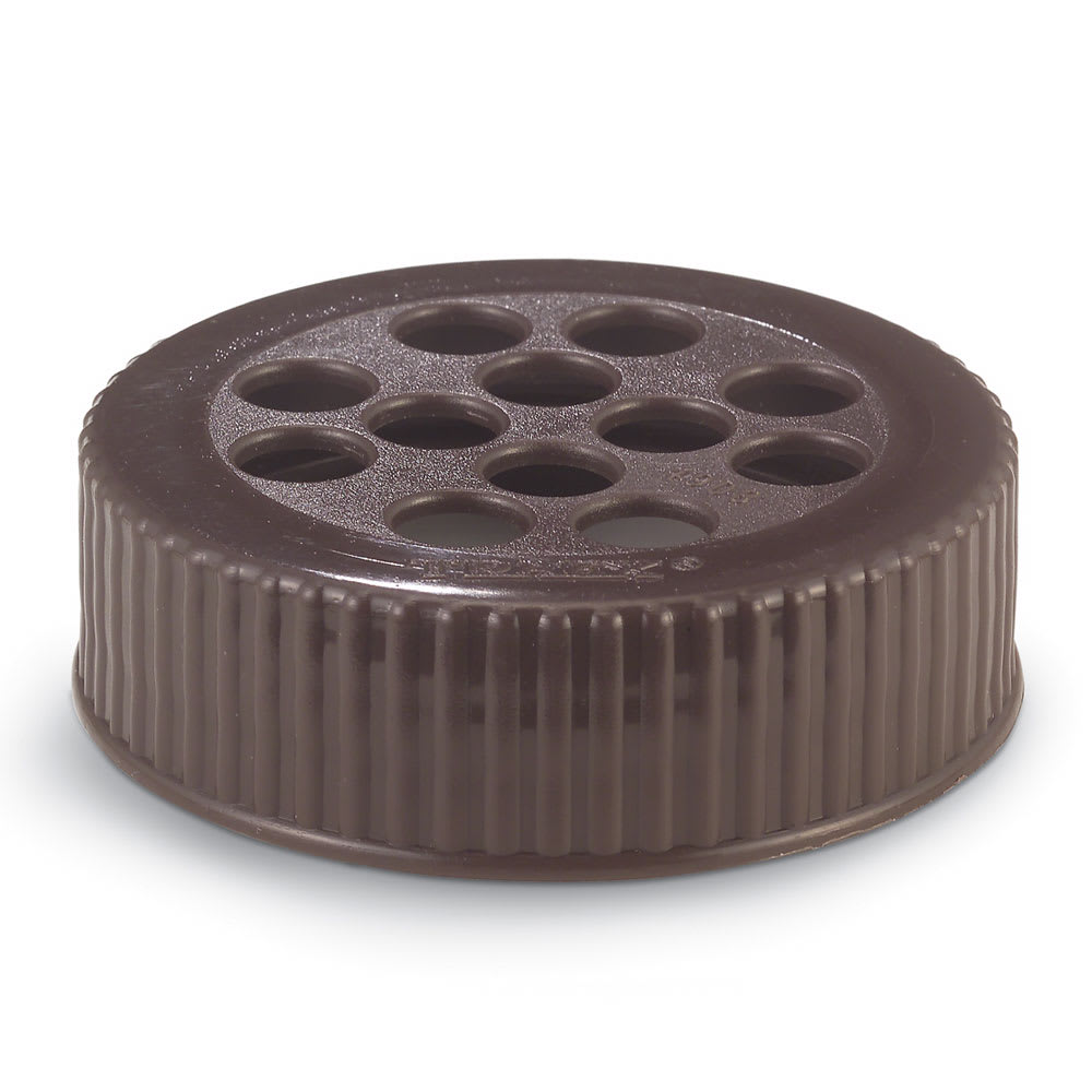 Vollrath 4908-01 Shaker Dredge Lid - Large Wide-Mouth, Plastic Brown