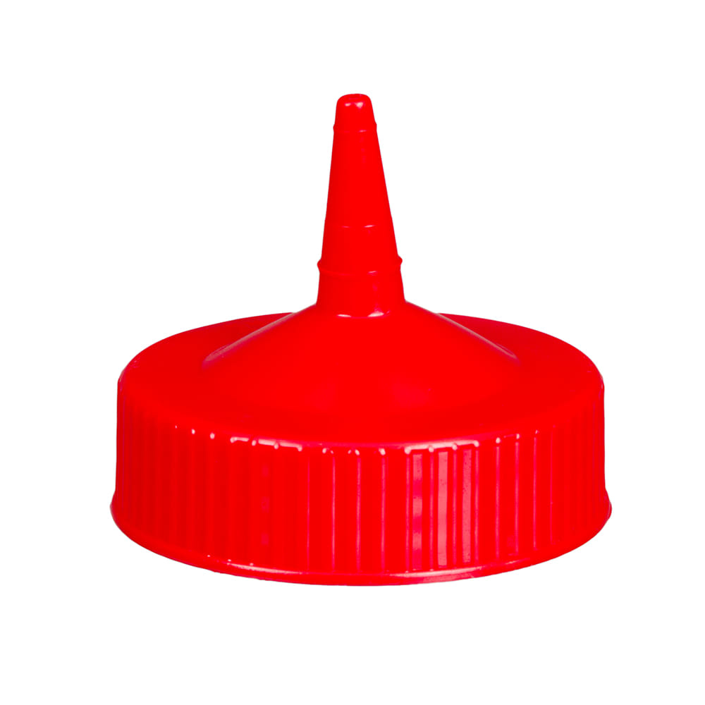 Vollrath 4913-02 Wide Mouth Squeeze Bottle Cap - Fits 16 32 oz Red