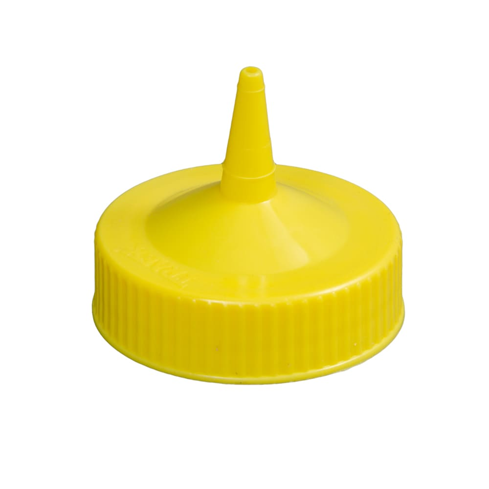 Vollrath 4913-08 Wide Mouth Squeeze Bottle Cap - Fits 16-32 oz Yellow