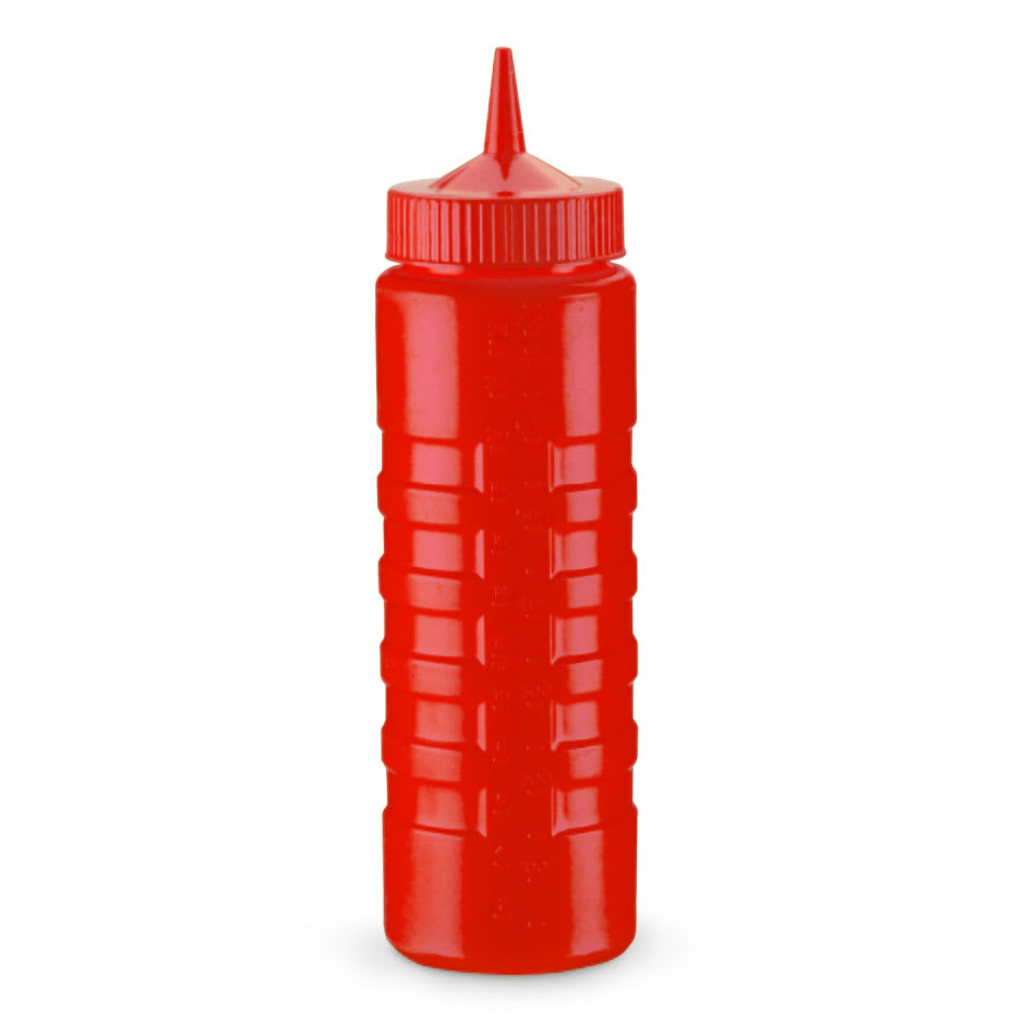 Vollrath 4932-02 32-oz Squeeze Bottle Dispenser - Wide Mouth, Red with Red Cap