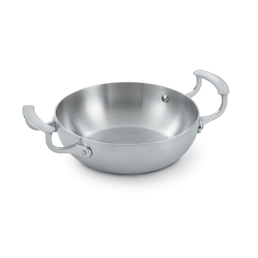 """Vollrath 49417 8"""" Stainless Steel Omelette Pan w/ Loop Handles"""