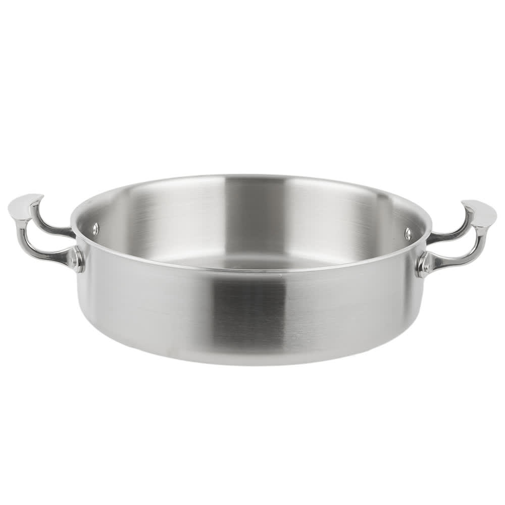 "Vollrath 49425 12"" Brazier Pan - Aluminum Bottom, 18-ga Stainless"
