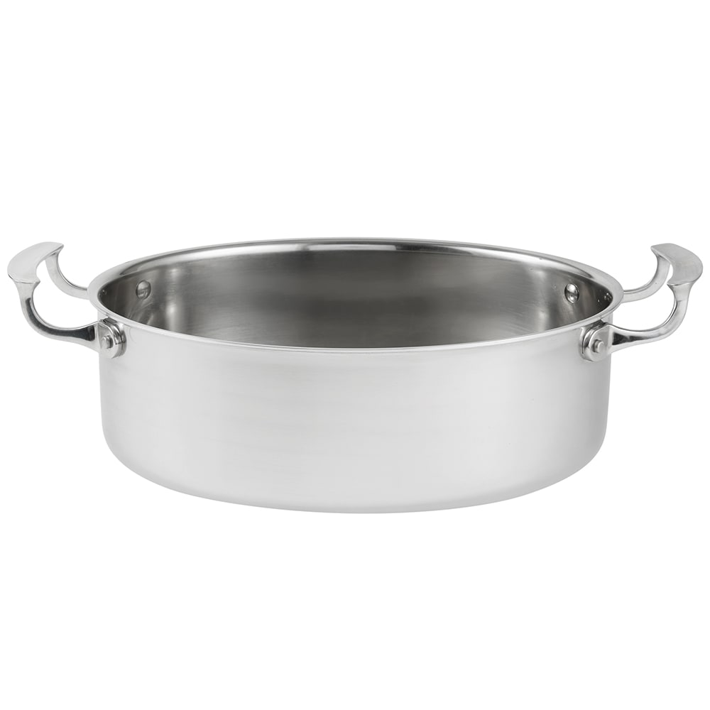 "Vollrath 49452 12"" Oval Au Gratin Dish, Stainless"