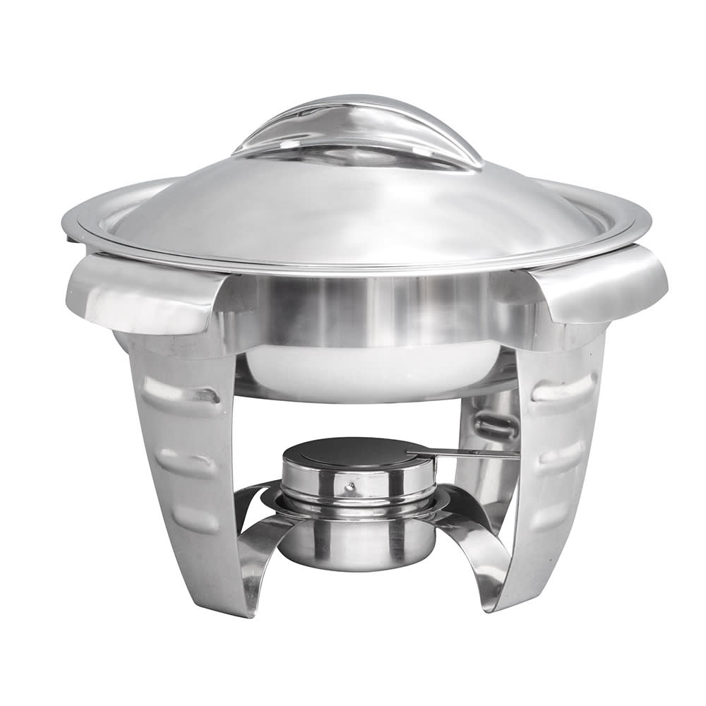 Vollrath 49521 Round Chafer w/ Lift-off Lid & Chafing Fuel Heat