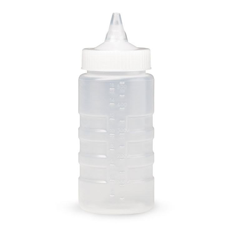 Vollrath 5116-13 16 oz Squeeze Bottle Dispenser - Wide Mouth, Clear Cap, Clear