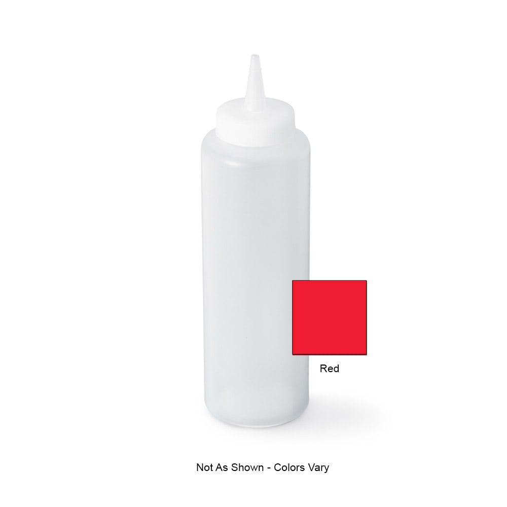 Vollrath 52064 12 oz Squeeze Bottle - Slim, Red Plastic