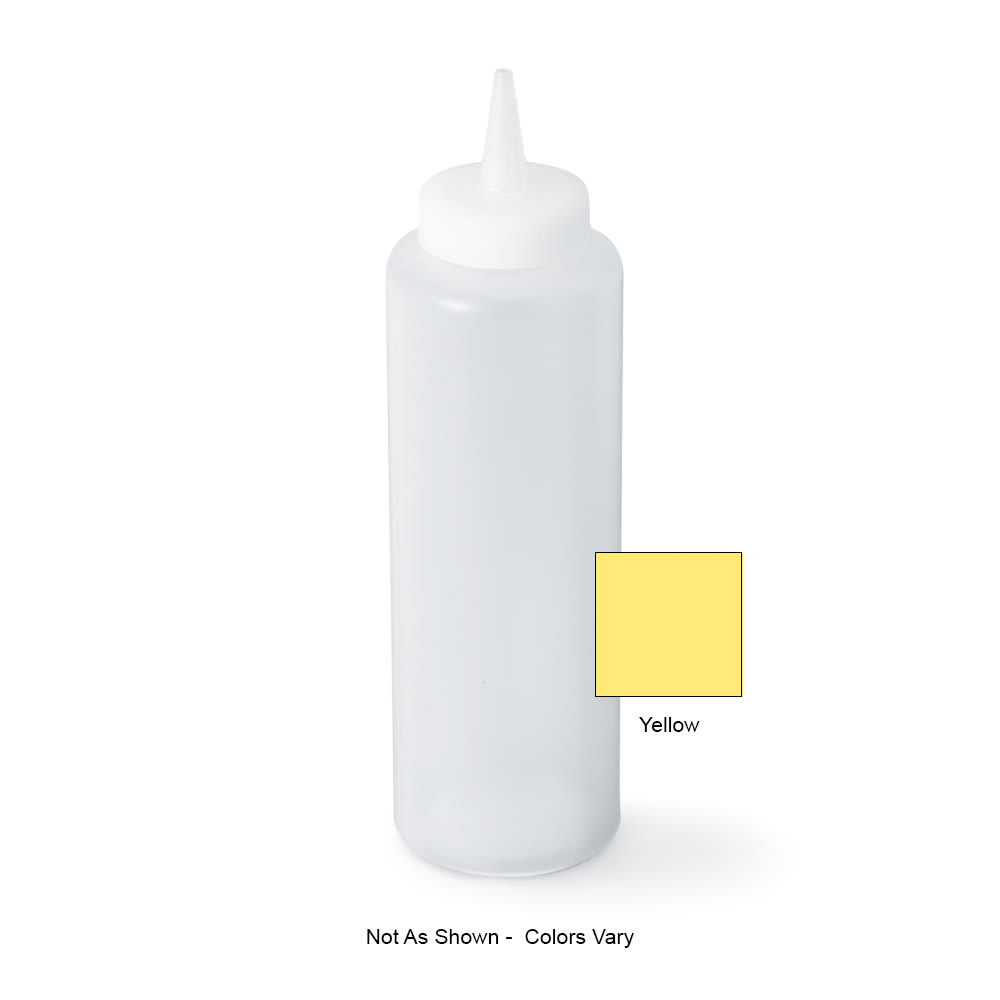 Vollrath 52065 12-oz Squeeze Bottle - Slim, Yellow Plastic