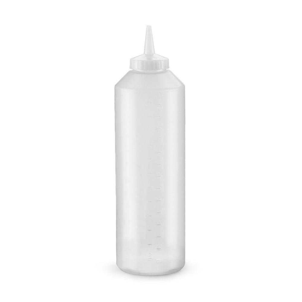 Vollrath 5224-13 24 oz Squeeze Bottle Dispenser - Clear Cap, Clear