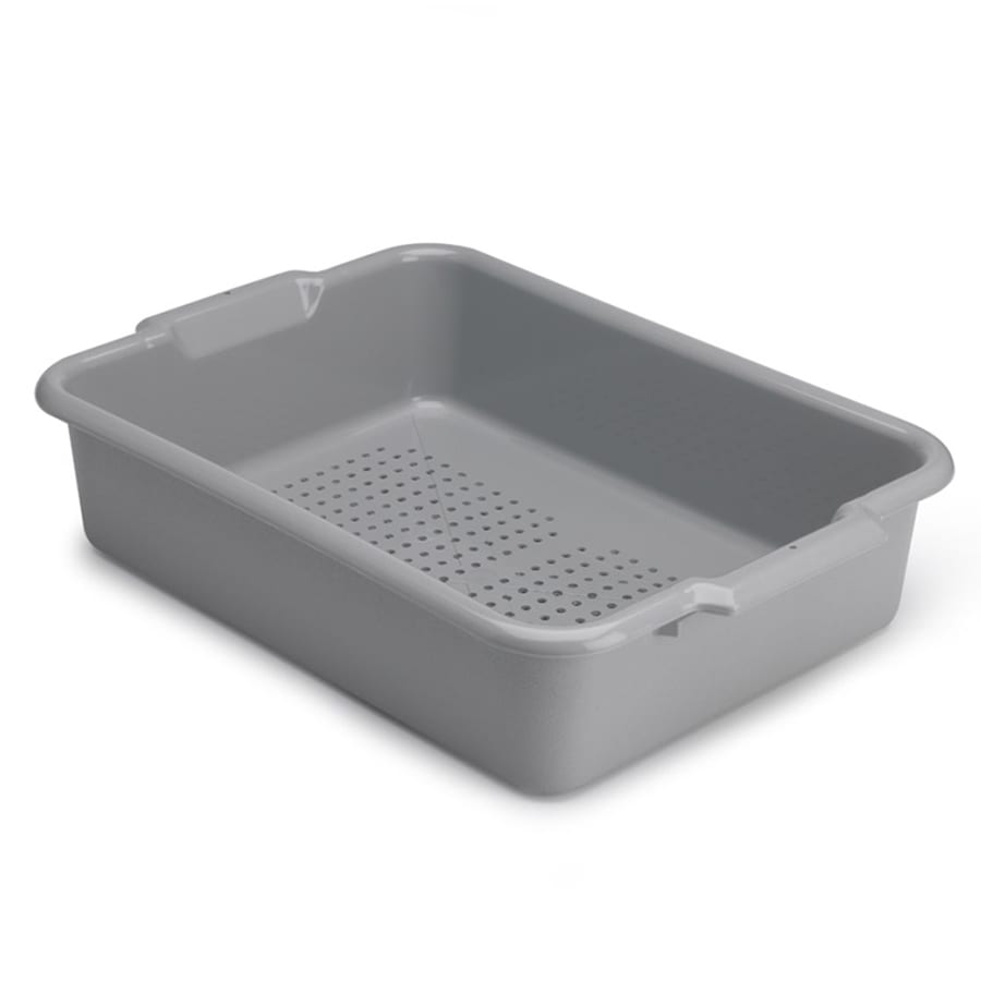 "Vollrath 52617 Perforated Drain Box - 20x15x5"" Gray"