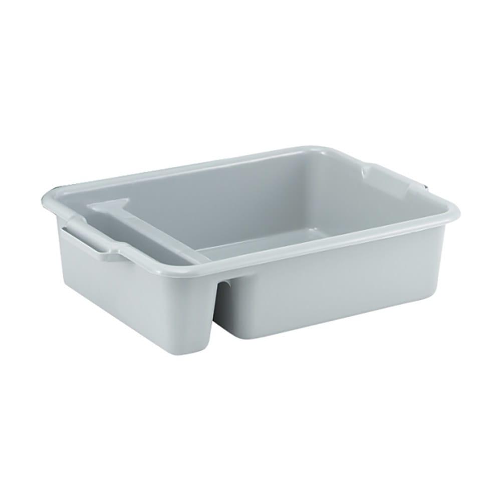 "Vollrath 52632 Heavy-Duty Bus Box - 2 Compartment, 23x17 1/2x6"" Gray"