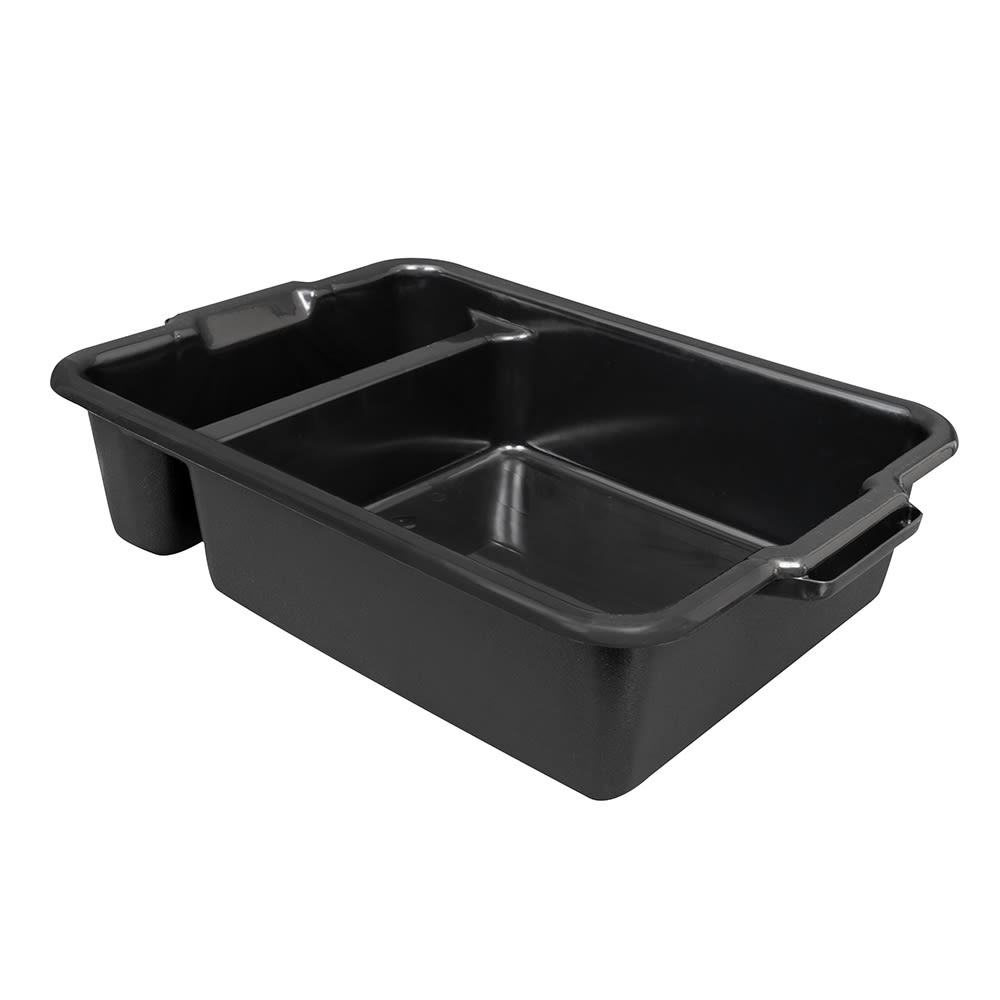"Vollrath 52634 Heavy-Duty Bus Box - 2-Compartment, 23x17-1/2x6"" Black"