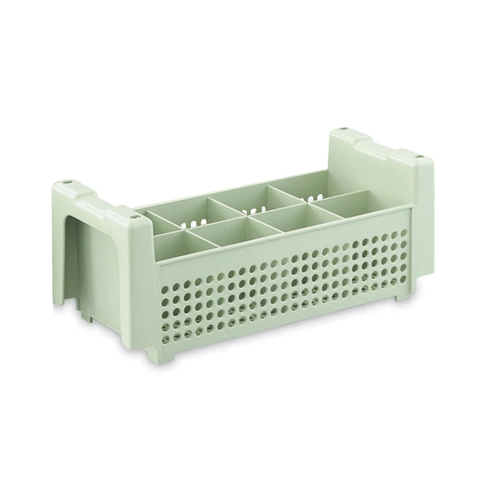 Vollrath 52640 Flatware Basket - 8 Compartment, Green