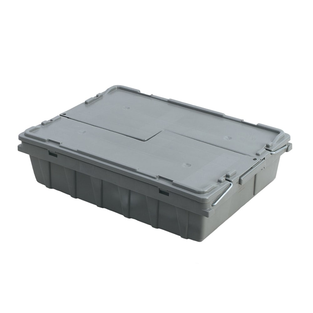 "Vollrath 52649 Tote 'N Store Buffetware Box - 20 1/8x14 1/4x4 5/8"" Gray"