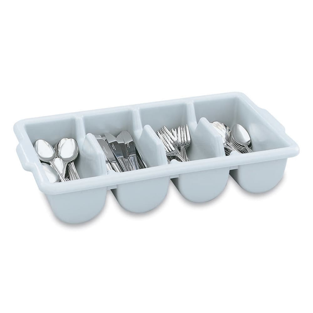 Vollrath 52654 Cutlery Dispenser - 4 Rounded Compartment, Gray