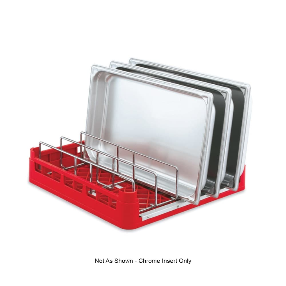 Vollrath 52665 Open-End Dishwasher Rack Insert - Chrome