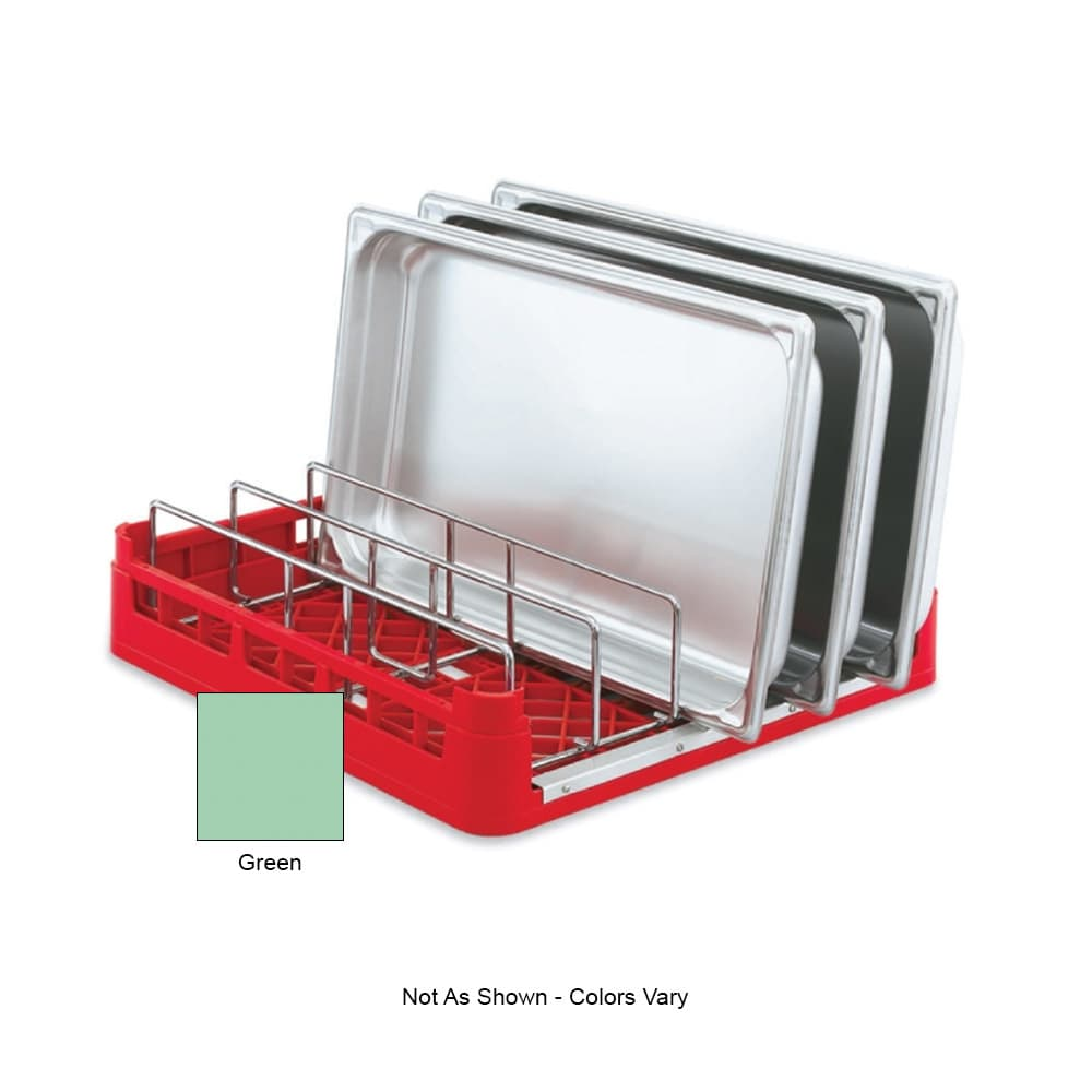 "Vollrath 52669 Open-End Dishwasher Rack with Insert - Full Size, 19-3/4x19-3/4"" Green"