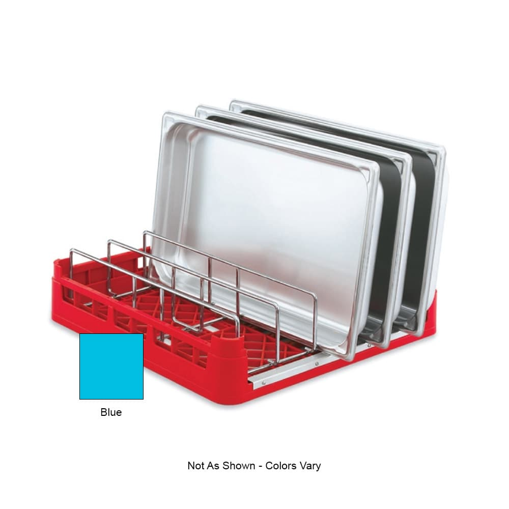 "Vollrath 52669 Open-End Dishwasher Rack with Insert - Full Size, 19-3/4x19-3/4"" Blue"