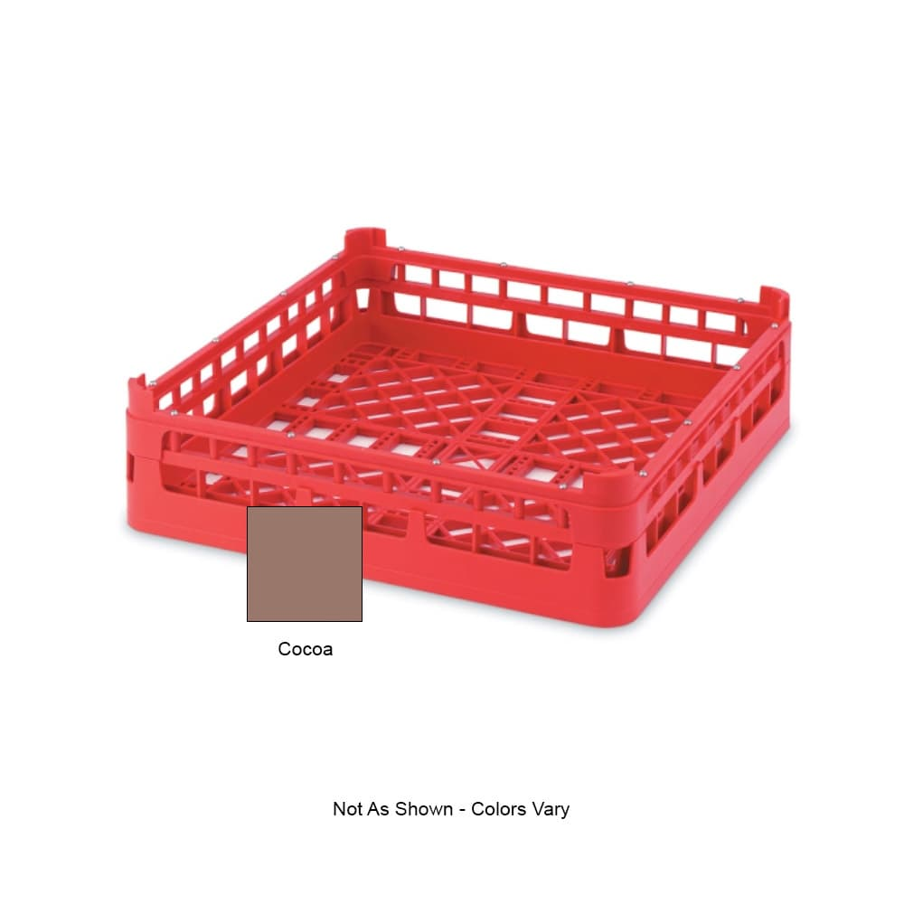 """Vollrath 52670 Open-End Dishwasher Rack - Short, Full-Size, 19 3/4x19 3/4"""" Cocoa"""