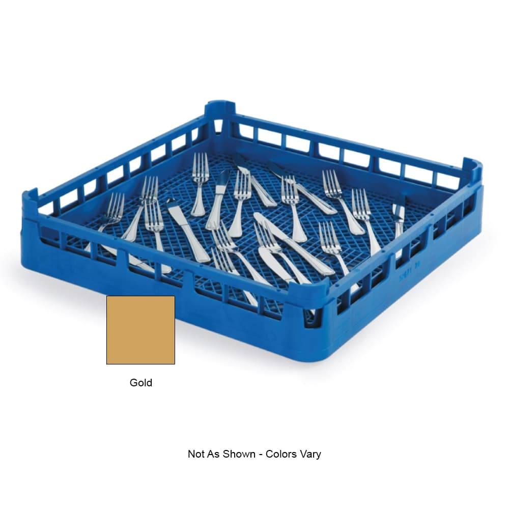 "Vollrath 52671 Dishwasher Flatware Rack - Full-Size, 19-3/4x19-3/4"" Gold"