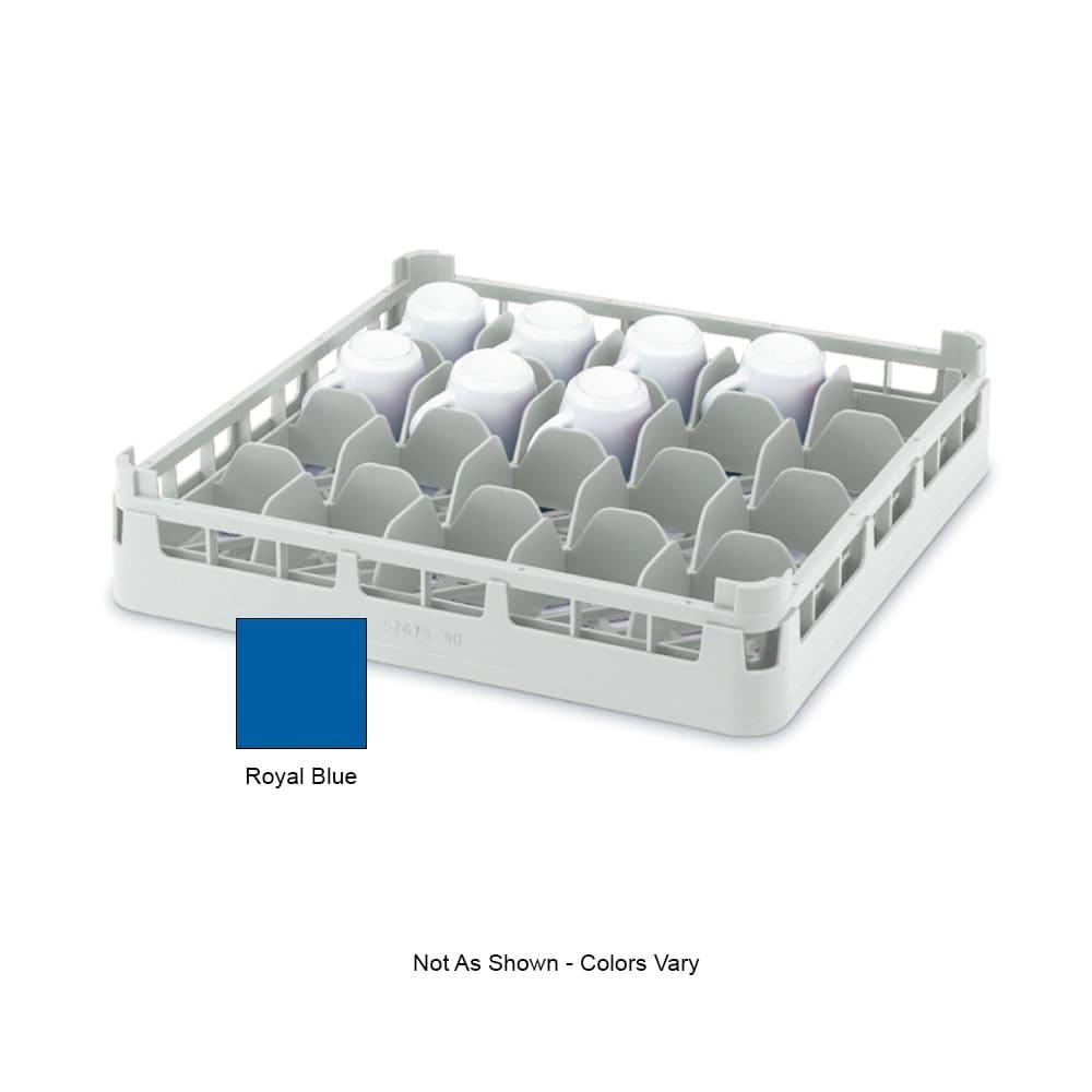 "Vollrath 52674 Dishwasher 16-Cup Rack - Short, Full-Size, 19-3/4x19-3/4"" Royal Blue"