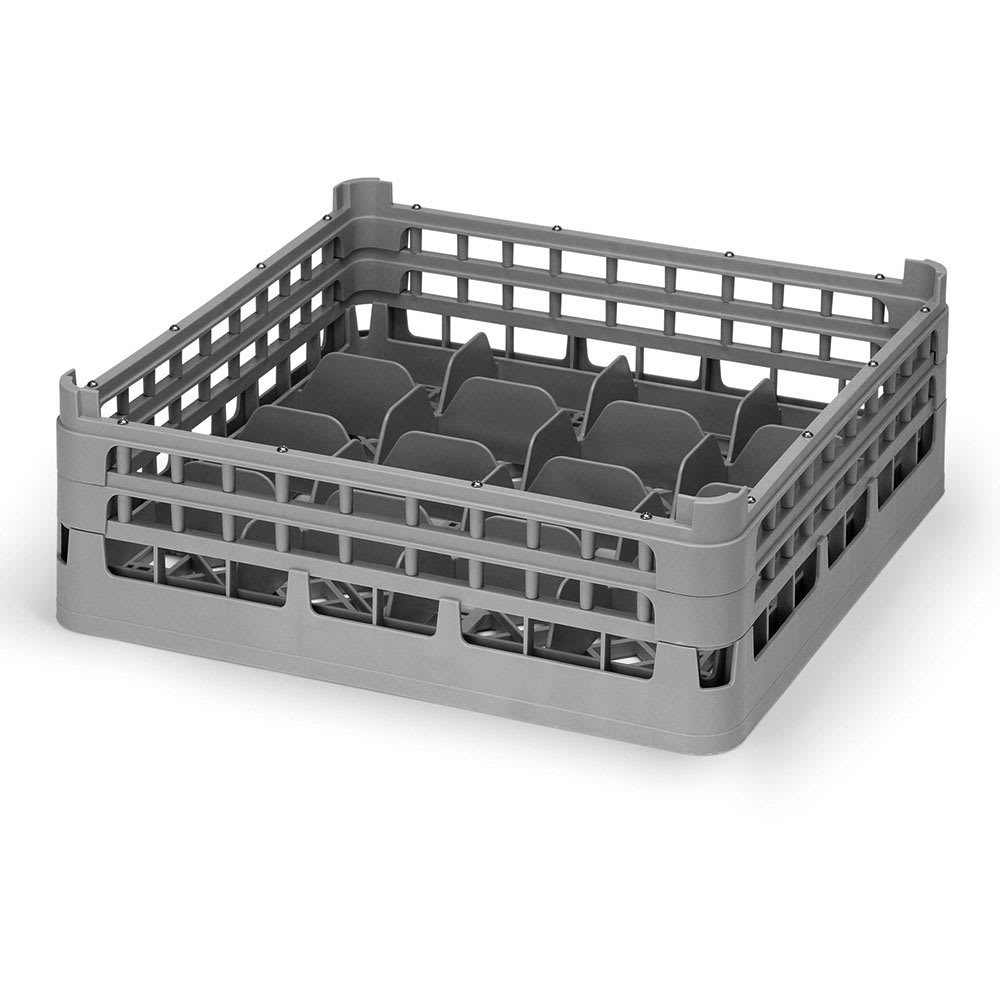 """Vollrath 52675 56 Dishwasher 20-Cup Rack - Short, Full-Size, 19-3/4x19-3/4"""" Gray"""