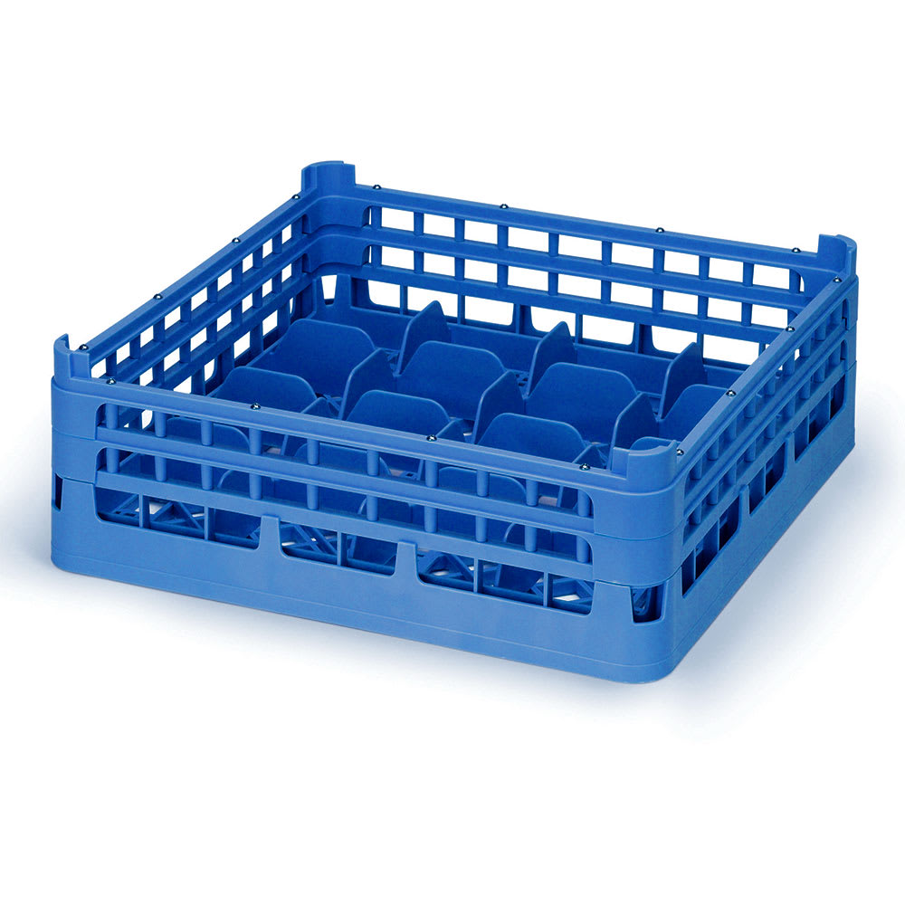 "Vollrath 52675 Dishwasher 20 Cup Rack - Short, Full-Size, 19 3/4x19 3/4"" Royal Blue"