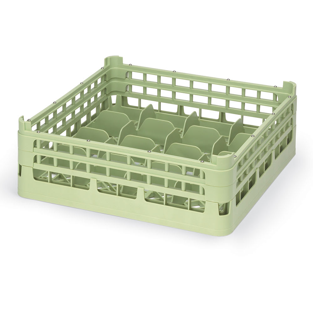 "Vollrath 52676 Dishwasher 16 Cup Rack - Medium, Full-Size, 19 3/4x19 3/4"" Green"