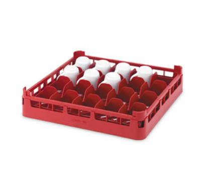 "Vollrath 52676 9 Dishwasher 16-Cup Rack - Medium, Full-Size, 19-3/4x19-3/4"" Burgundy"
