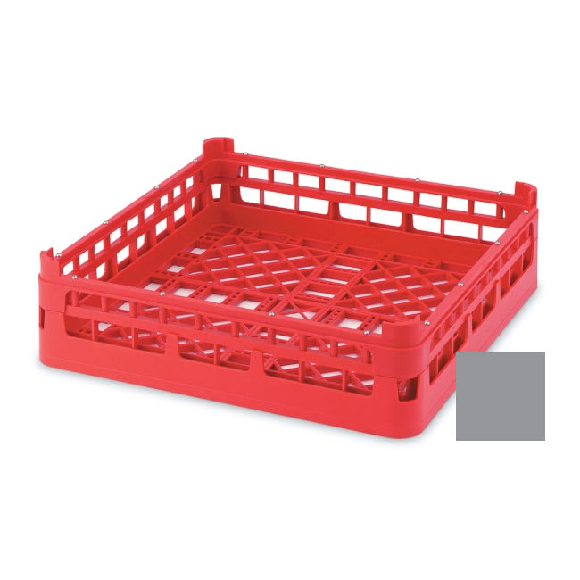 "Vollrath 52681 Open Dishwasher Rack - Tall, Full-Size, 19 3/4x19 3/4"" Gray"