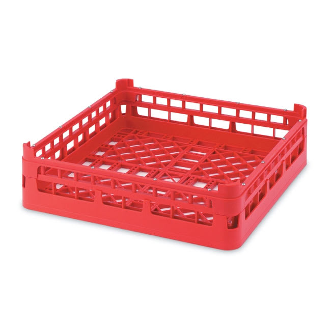 "Vollrath 52682 3 Open Dishwasher Rack - X-Tall, Full-Size, 19-3/4x19-3/4"" Red"