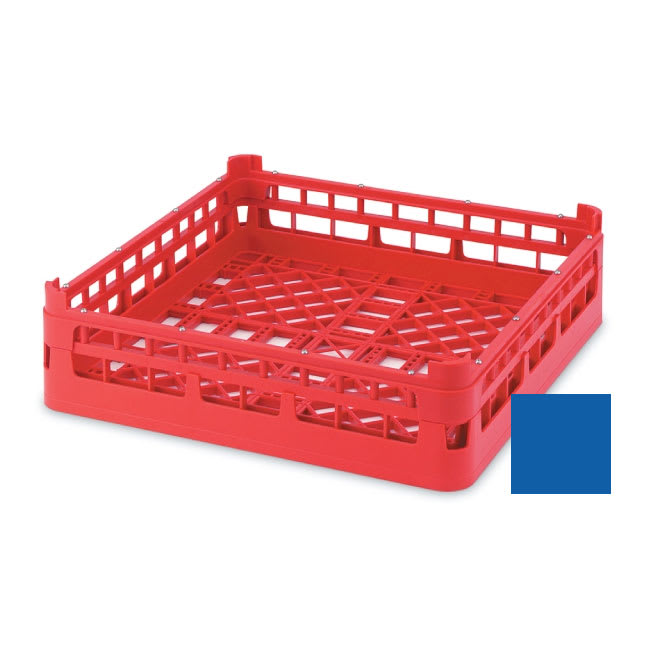 "Vollrath 52682 Open Dishwasher Rack - X-Tall, Full-Size, 19-3/4x19-3/4"" Royal Blue"