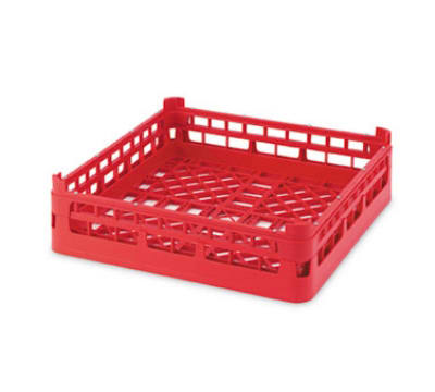"Vollrath 52683 Open Dishwasher Rack - XX-Tall, Full-Size, 19 3/4x19 3/4"" Red"