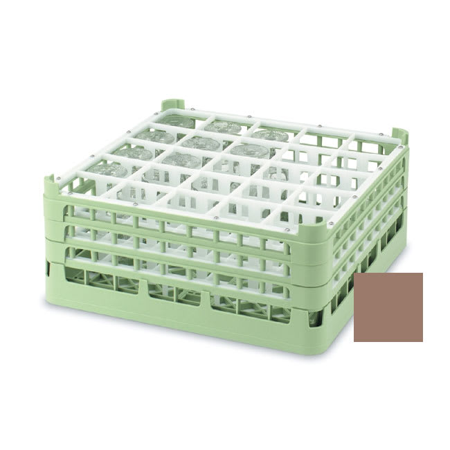 """Vollrath 52684 Dishwasher Rack - 25 Compartment, Short, Full-Size, 19 3/4x19 3/4"""" Cocoa"""
