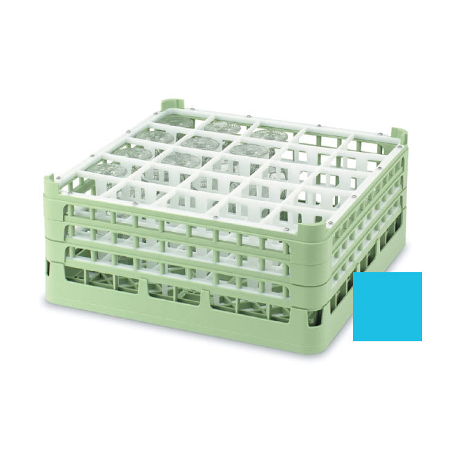 """Vollrath 52684 Dishwasher Rack - 25-Compartment, Short, Full-Size, 19-3/4x19-3/4"""" Blue"""