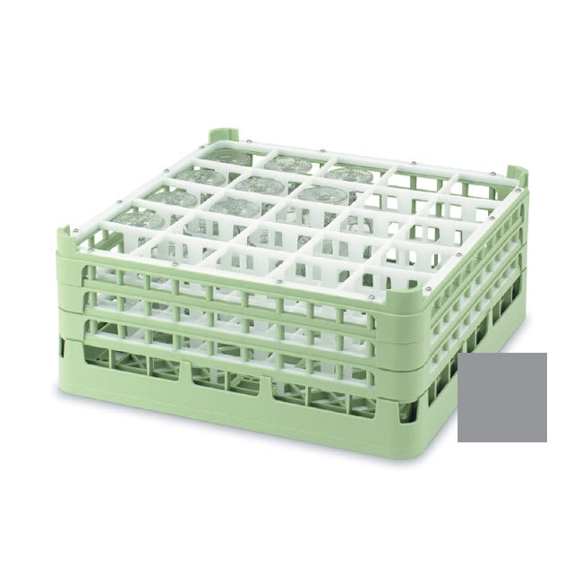 """Vollrath 52684 Dishwasher Rack - 25 Compartment, Short, Full-Size, 19 3/4x19 3/4"""" Gray"""