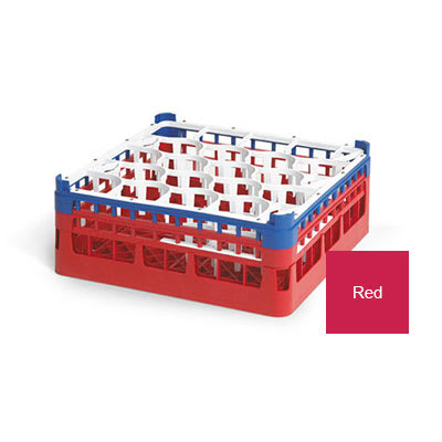 "Vollrath 52693 Dishwasher Rack - 20 Lemon-Drop, Medium, Full-Size, 19 3/4x19 3/4"" Red"