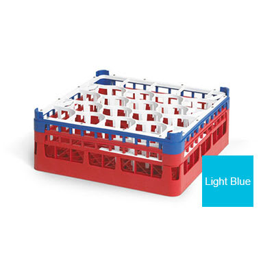 "Vollrath 52693 Dishwasher Rack - 20 Lemon-Drop, Medium, Full-Size, 19 3/4x19 3/4"" Blue"