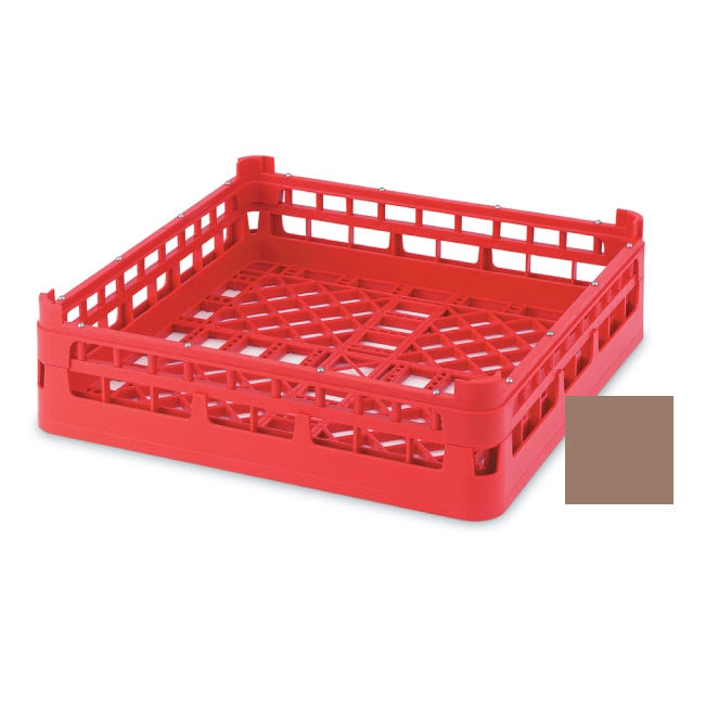 "Vollrath 52696 Open Dishwasher Rack - Short, Ex-Height, Full-Size, 19 3/4x19 3/4"" Cocoa"