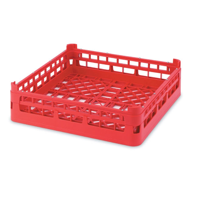 """Vollrath 52696 Open Dishwasher Rack - Short, Ex-Height, Full-Size, 19 3/4x19 3/4"""" Red"""
