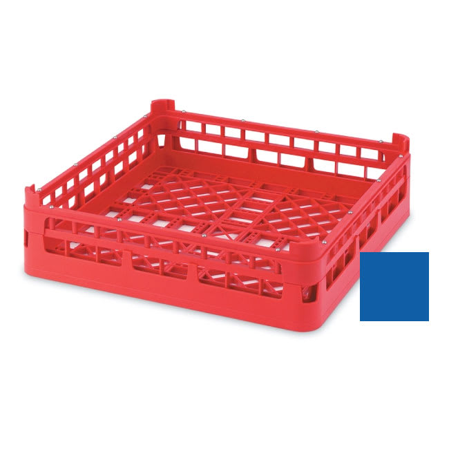 "Vollrath 52696 7 Open Dishwasher Rack - Short, Ex-Height, Full-Size, 19-3/4x19-3/4"" Royal Blue"