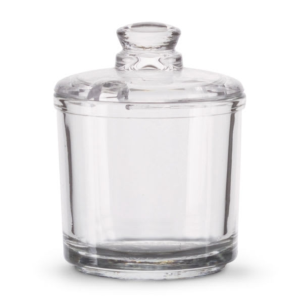 Vollrath 527 6 oz Condiment Jar with Lid - Glass