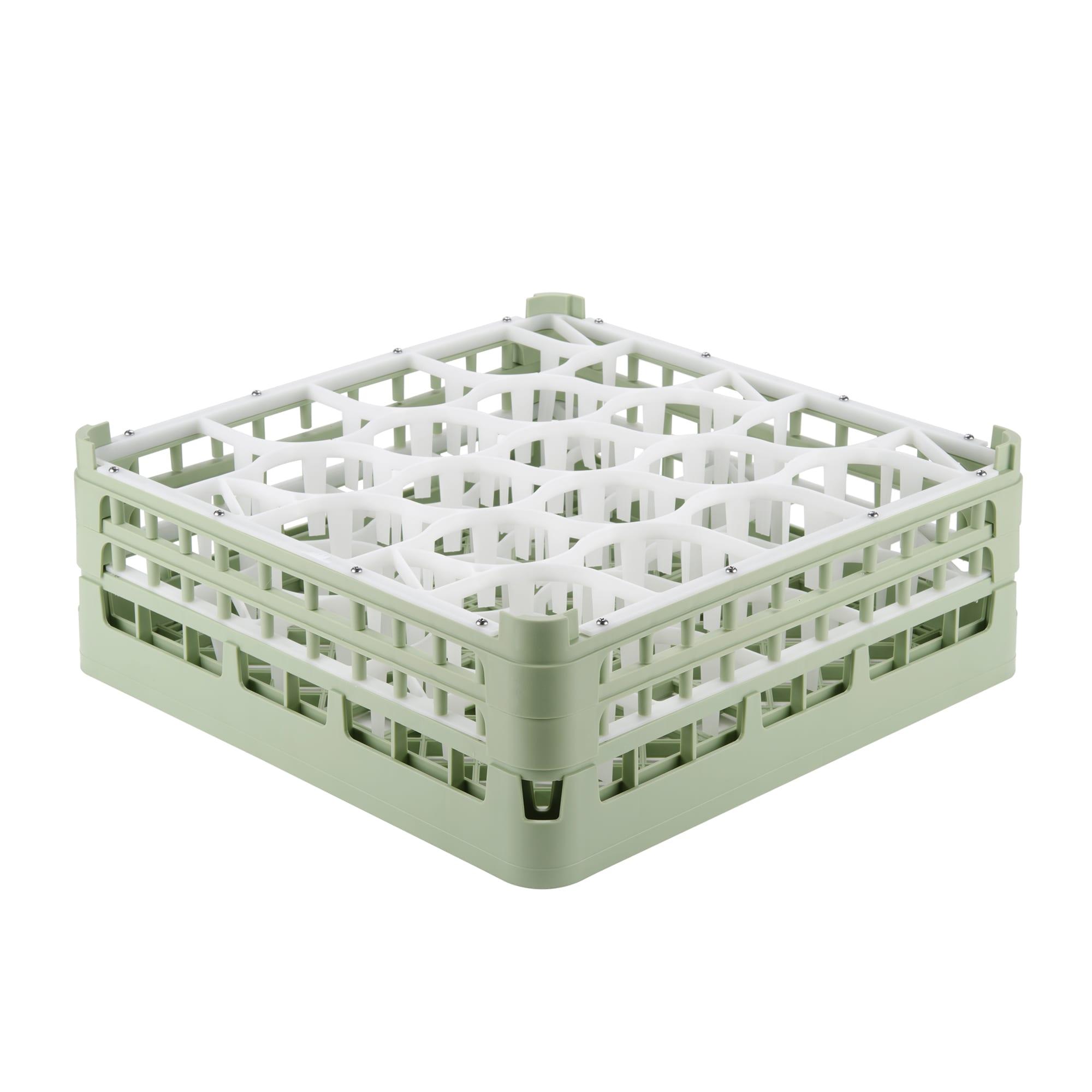 """Vollrath 52703 1 Dishwasher Rack - 20-Lemon-Drop, Tall, Full-Size, 19-3/4x19-3/4"""" Green"""
