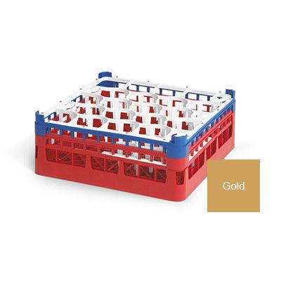 "Vollrath 52703 5 Dishwasher Rack - 20-Lemon-Drop, Tall, Full-Size, 19-3/4x19-3/4"" Gold"