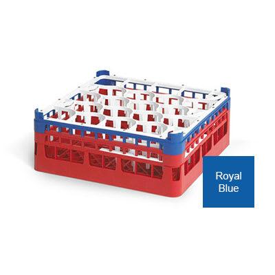 "Vollrath 52703 Dishwasher Rack - 20-Lemon-Drop, Tall, Full-Size, 19-3/4x19-3/4"" Royal Blue"