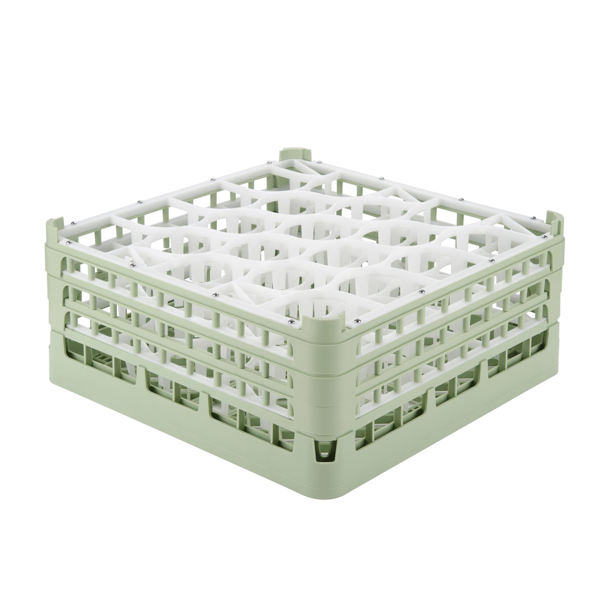 """Vollrath 52706 1 Dishwasher Rack - 20-Lemon-Drop, X-Tall, Full-Size, 19-3/4x19-3/4"""" Green"""