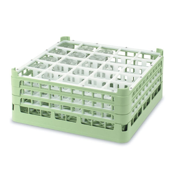 "Vollrath 52710 Dishwasher Rack - 20 Compartment, Medium, Full-Size, 19 3/4x19 3/4"" Green"