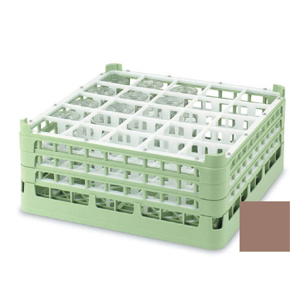 "Vollrath 52711 2 Dishwasher Rack - 25-Compartment, Tall, Full-Size, 19-3/4x19-3/4"" Cocoa"
