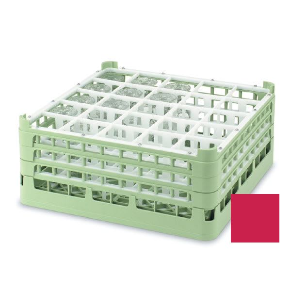 "Vollrath 52711 Dishwasher Rack - 25 Compartment, Tall, Full-Size, 19 3/4x19 3/4"" Red"
